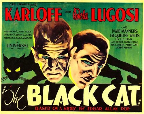 Affiche du film Le Chat noir / The Black Cat (Edgar G. Ulmer, 1934)