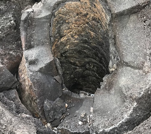 Opening in lava caused by tree trunk. From History Comes Alive at Hawai'i Volcanoes National Park