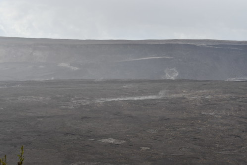 View into Halema'uma'u Crater. From History Comes Alive at Hawai'i Volcanoes National Park