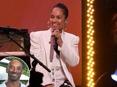 Alicia Keys Performed Powerful Piano To Honors Kobe Bryant at Memorial
