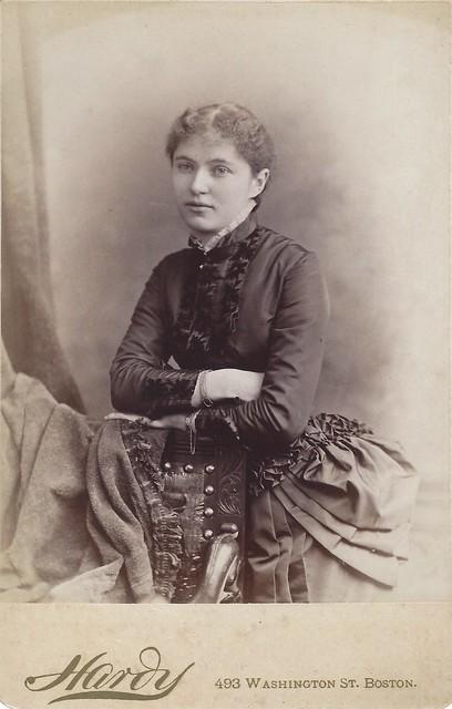 Mary Isabel Brickett, Abbot Academy (Cabinet Card by Amory Nelson Hardy, 493 Washington Street, Boston, Massachusetts)