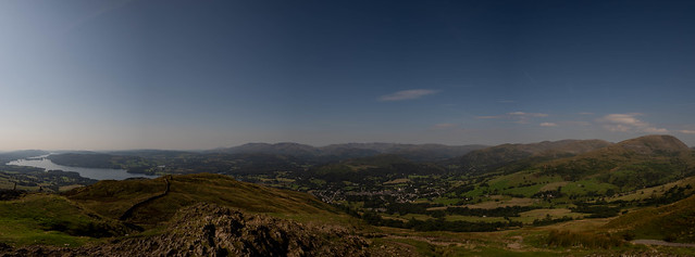 Lake District -  Looking down Windermere from Wansfell Pike