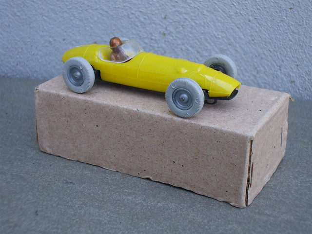Vintage Plastic  Ingap Yellow Ferguson F1 Racing Car Made in Italy