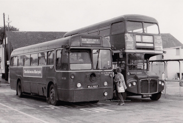 London Country Buses RF 220 and RMC 4 at Hertford, early 1970s