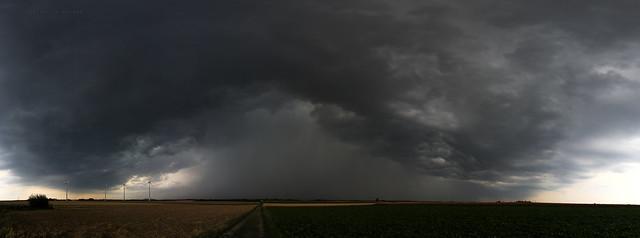 Gewitterzelle/Thunderstorm  19.07.17 Linnich, NRW