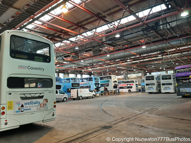 Back view of National Express Coventry's Depot