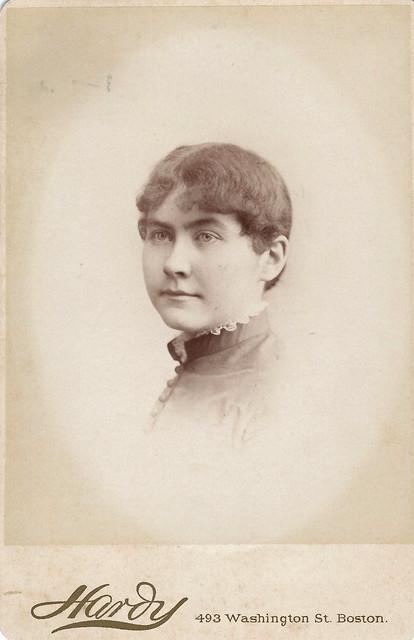 Margaret C. McGiffert, Abbot Academy (Cabinet Card by Amory Nelson Hard, 493 Washington Street, Boston, Massachusetts)