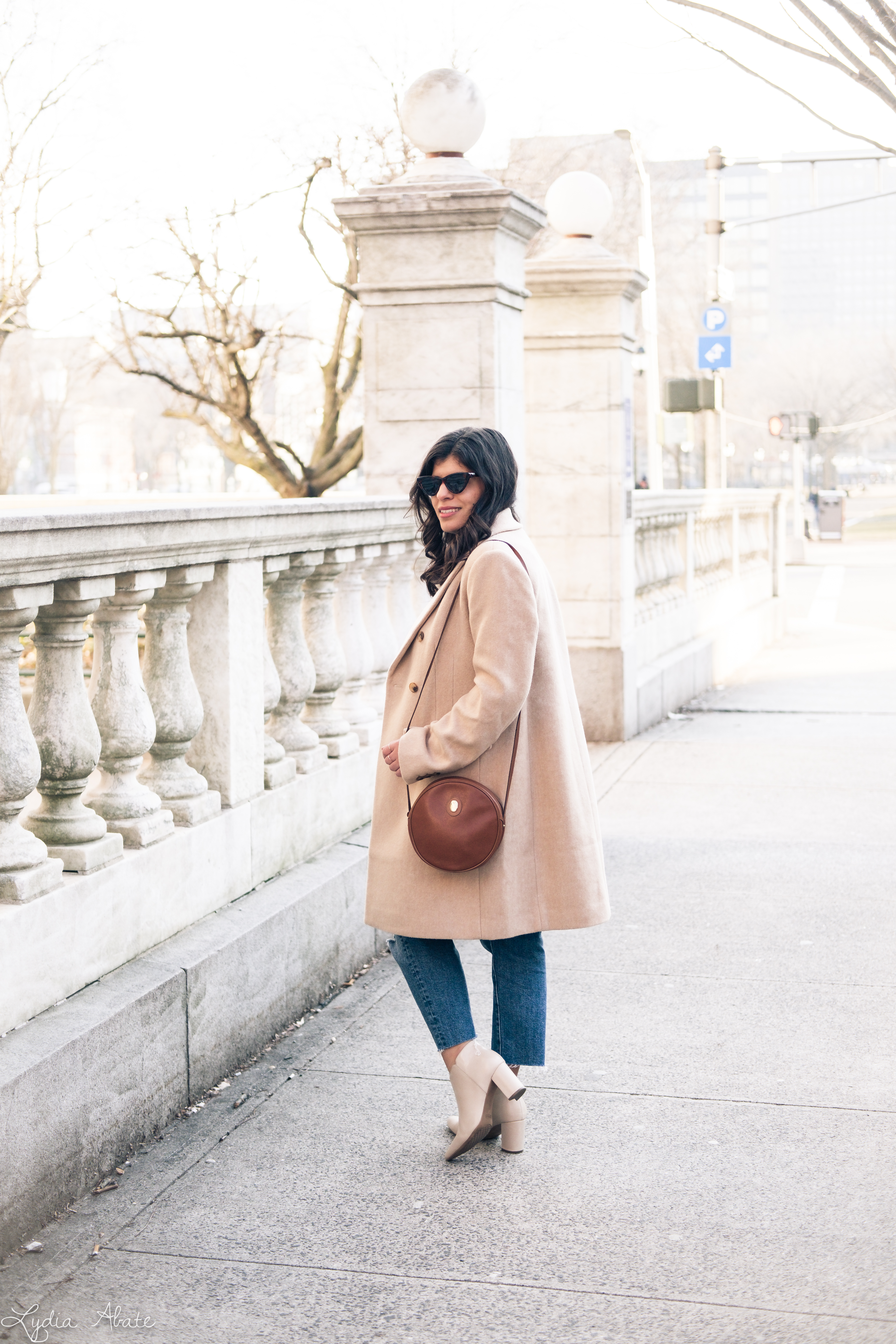 camel overcoat, white blouse, distressed jeans, cream booties-6.jpg