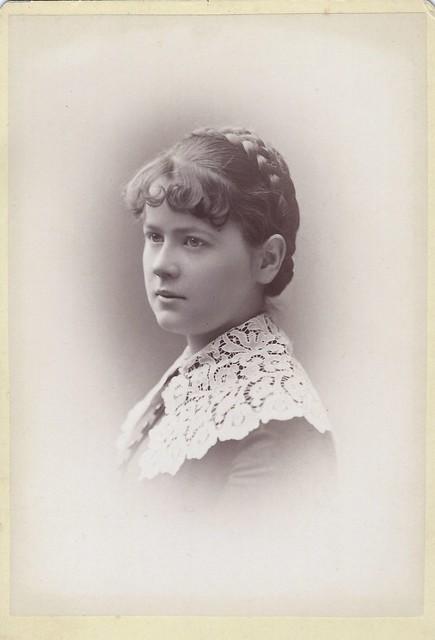 Mary Margaret Kuhnen, Abbot Academy (Cabinet Card by John L. McCormick, 22 Winter Street, Boston, Massachusetts)