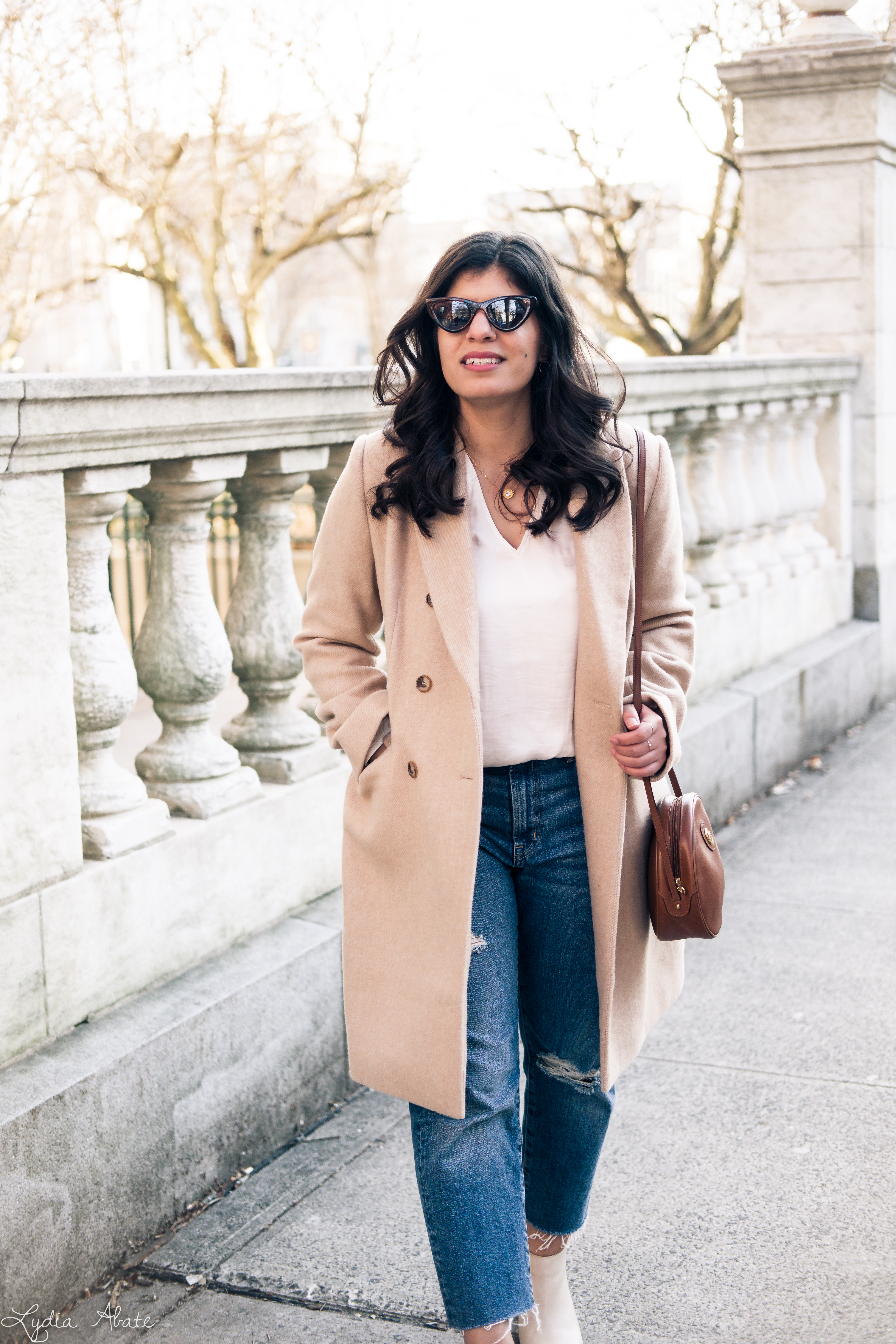 camel overcoat, white blouse, distressed jeans, cream booties-9.jpg