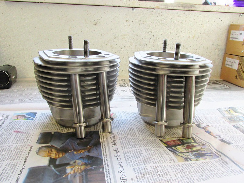 Refinished Cylinders with New Push Rod Tubes