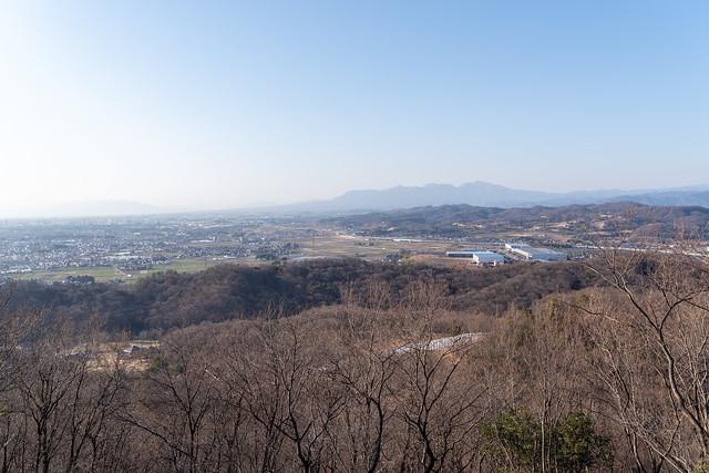 物見台からの眺望 赤城山方面