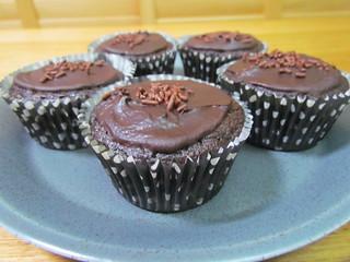 Chocolate Smorgasbord Spelt Cupcakes