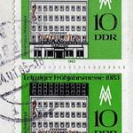 Tue, 2020-02-25 00:13 - Postage stamp Leipzig Spring Fair 1983 - Messehaus Petershof; Timbre-poste Foire de printemps de Leipzig 1983 - Messehaus Petershof
