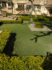 The formal garden outside Garh Palace in Bundi, India