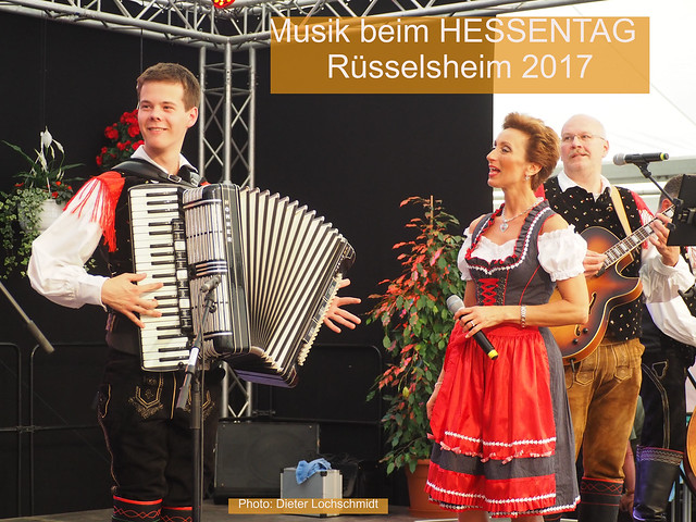 Folk Music in a Tent during the Hessentag State Festival in Ruesselsheim, Germany