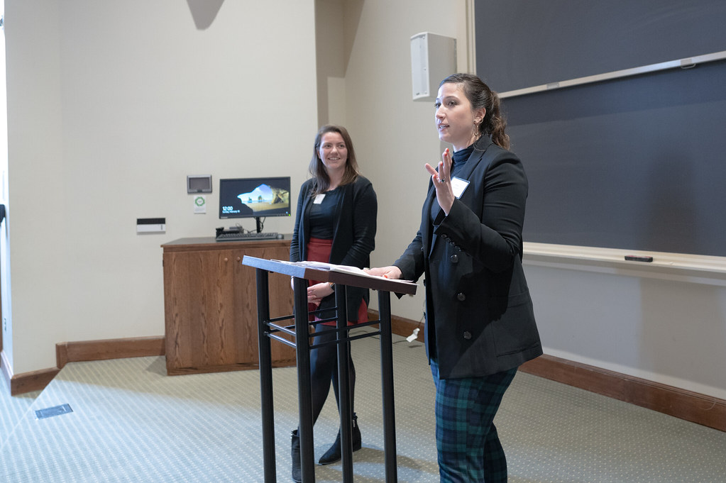 Co-chairs Erin Dunstan, '17, and Jessica Ruzic, '10, kicked off the 2020 Jepson EDGE Institute.