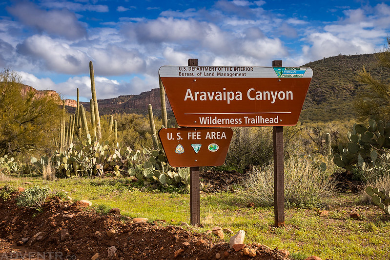 Aravaipa Canyon Sign