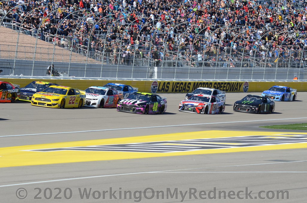 Joey Logano, Jimmie Johnson, Kurt Busch & Kyle Busch