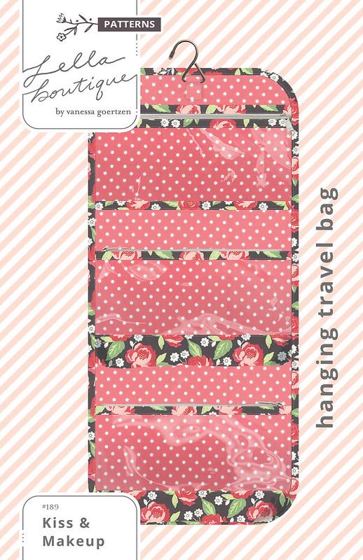 LB189 Kiss & Makeup Hanging Travel Bag COVER