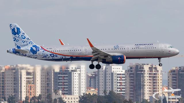 TLV - Aeroflot Airbus A321 VP-BEE
