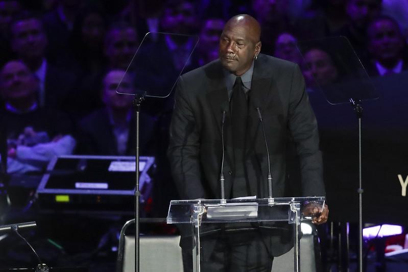Michael Jordan談到Kobe Bryant時淚流不止。(達志影像)