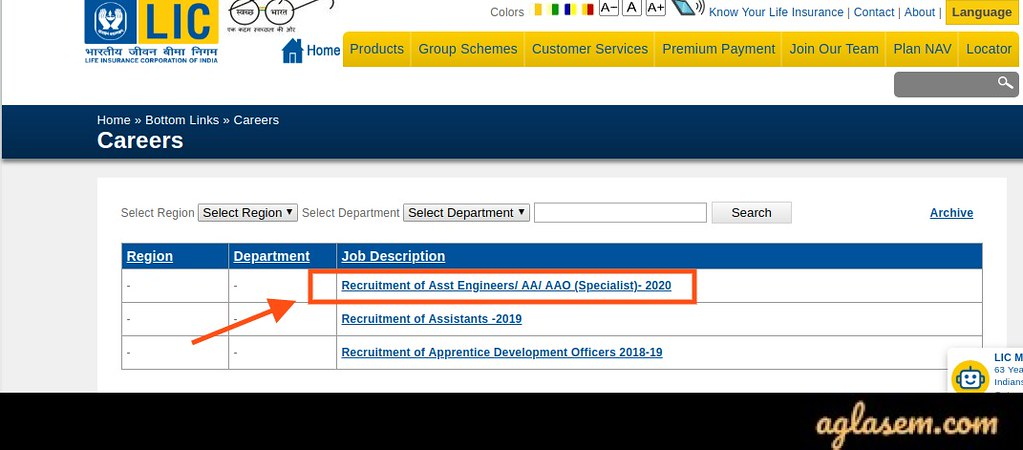 Apply for LIC Assistant 2020 Application Form