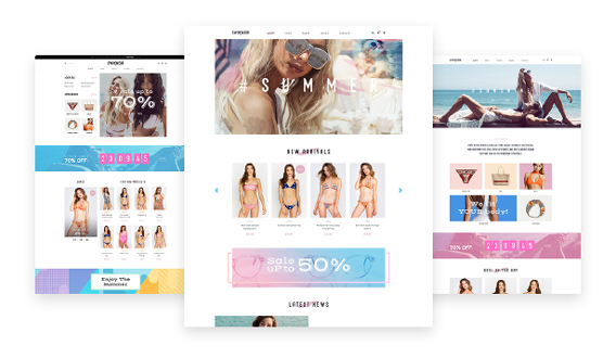 Leo Swimwear Fashion Store PrestaShop Template - 03+ Premade Fashion Website layouts