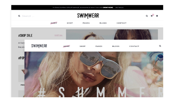 Leo Swimwear Fashion PrestaShop Theme - 02+ Ready-to-use Header Styles