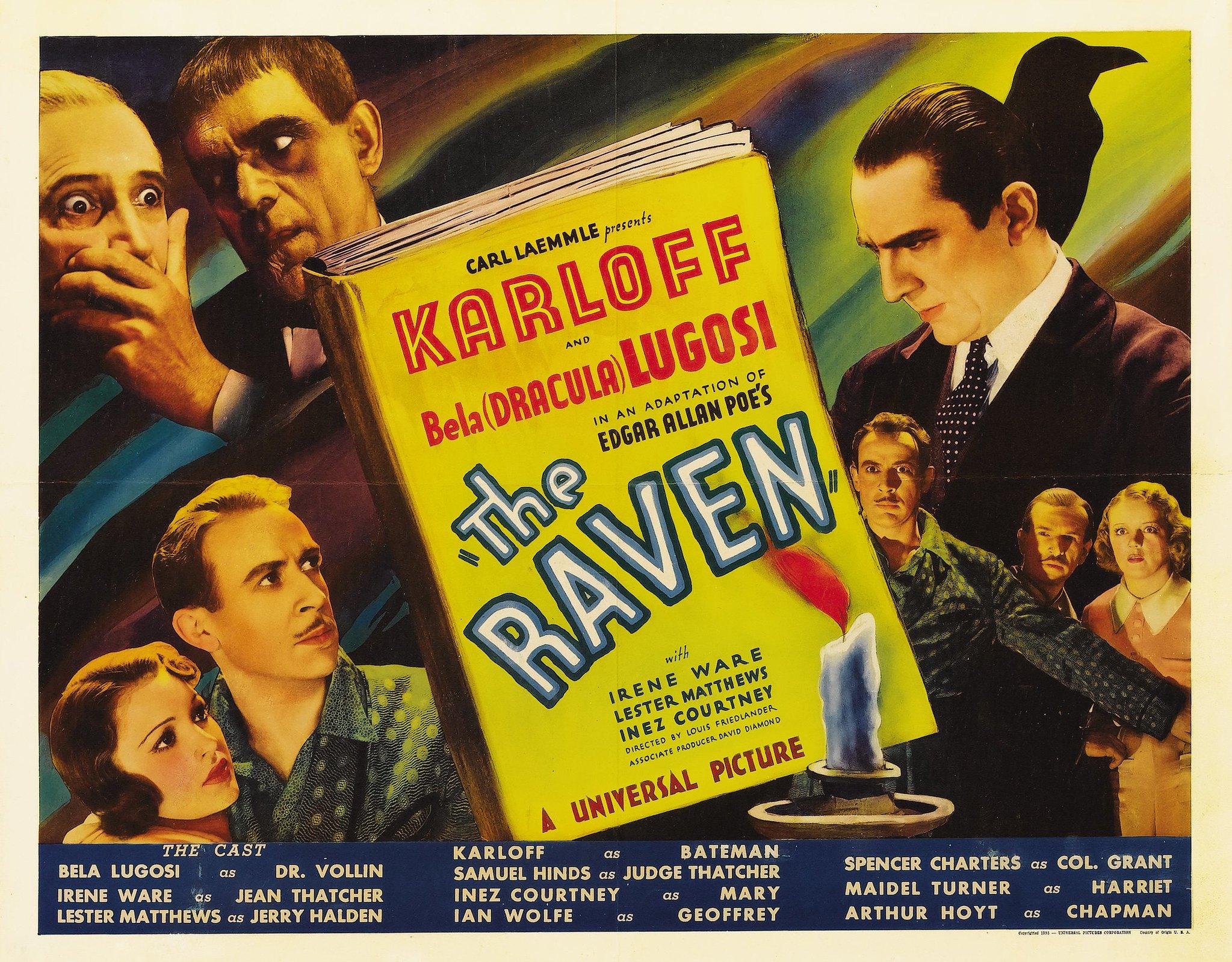 Affiche du film Le Corbeau (Lew Landers, 1935)