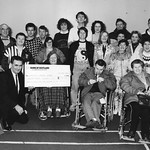 Handicapped Club cheque to RNLI 1991