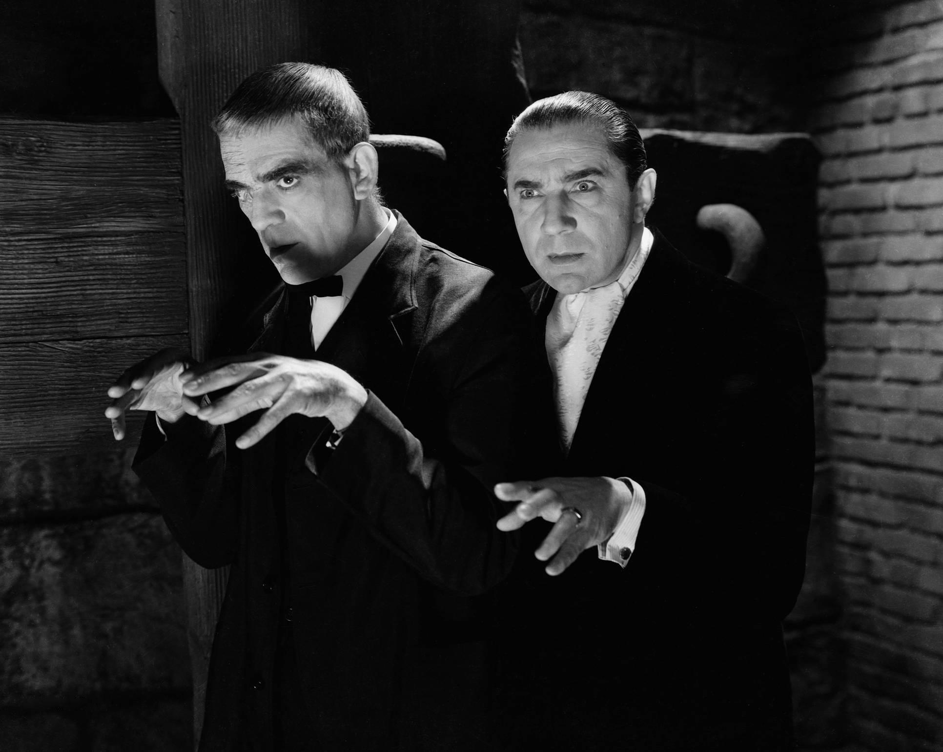 Boris Karloff et Bela Lugosi dans le film Le Corbeau (Lew Landers, 1935)