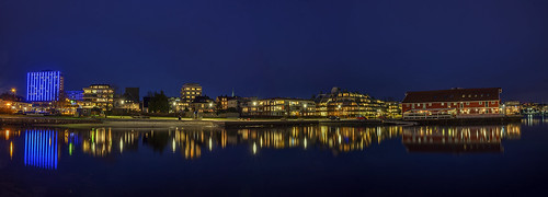 Kristiansand by night