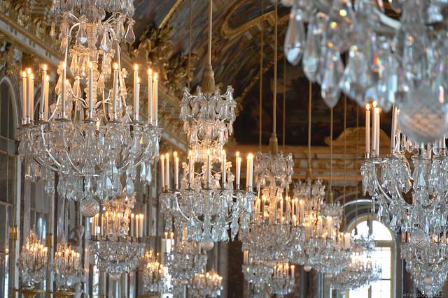 Salón de los espejos en Versalles.