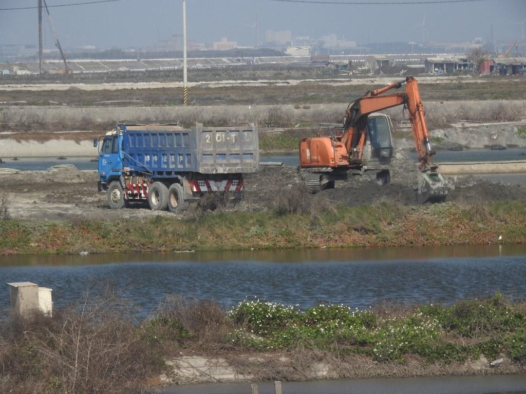 現場開發施工紀錄。照片提供:彰化縣野鳥學會