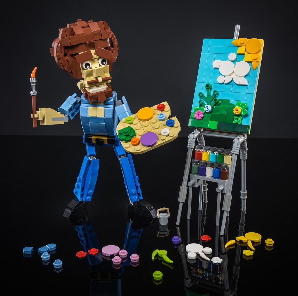 Bob Ross LEGO Puppet