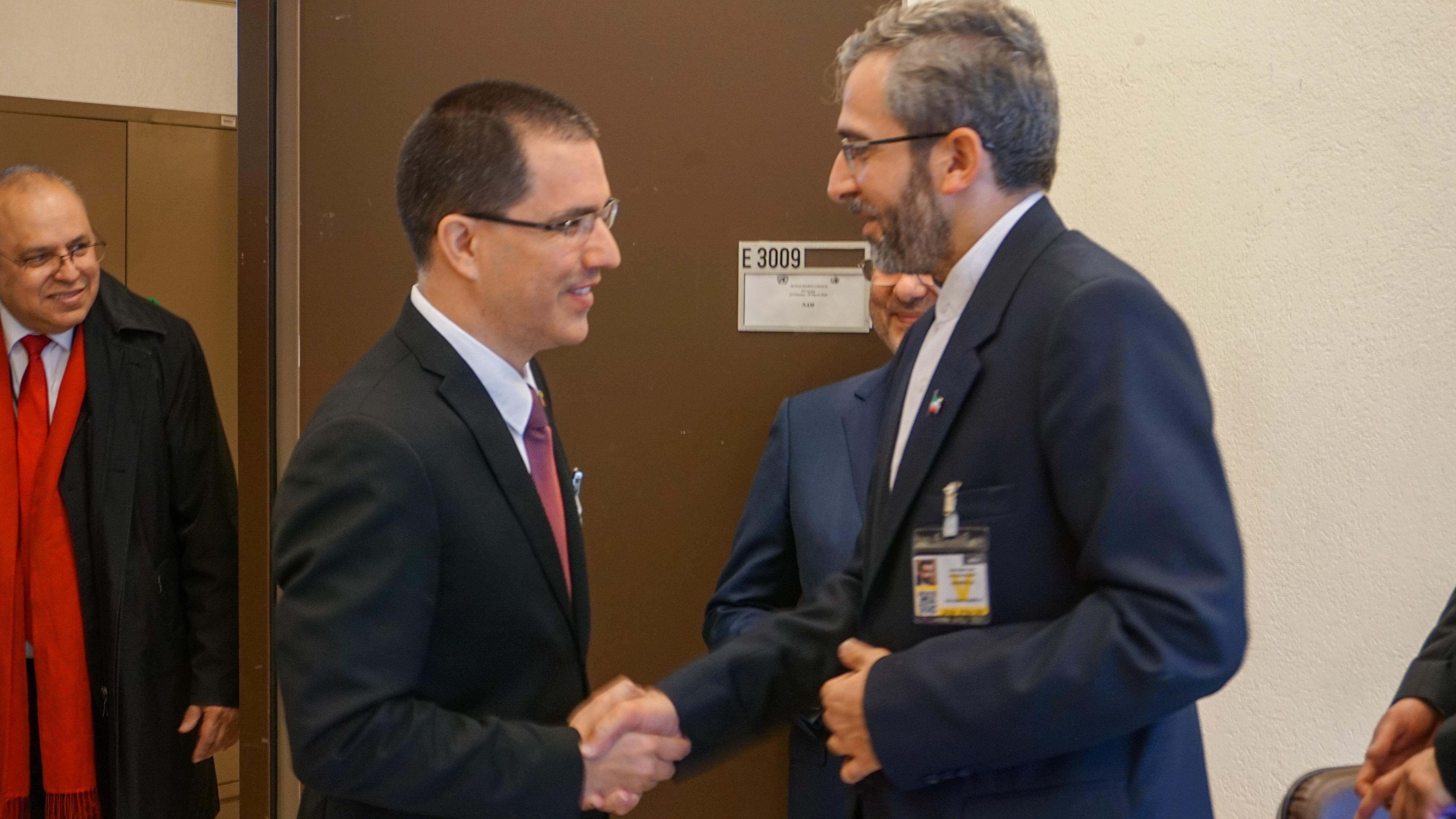 Canciller Arreaza sostiene encuentro con secretario del Alto Consejo para DDHH de Irán en la ONU-Ginebra