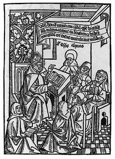 Alberto Magno in un convento di suore