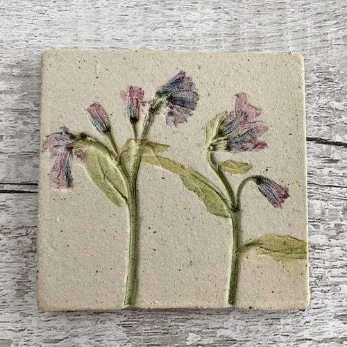 plant ceramic art tiles