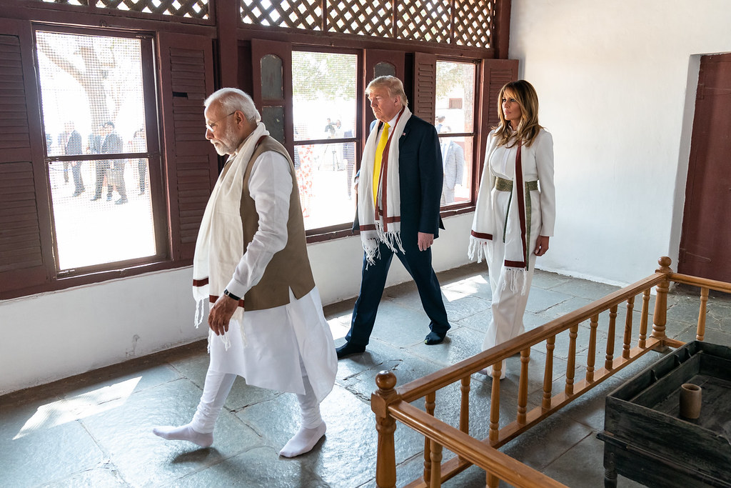 Image result for trump india visit