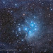 The Pleiades Star Cluster Amid Nebulosity