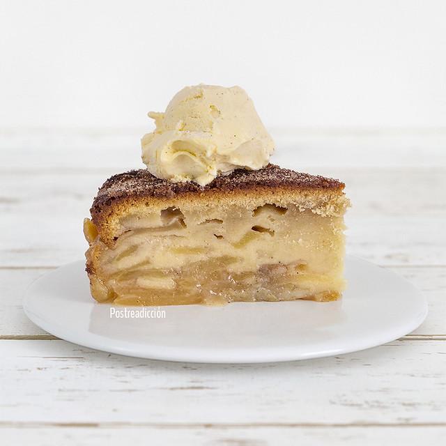 receta tarta manzana y canela
