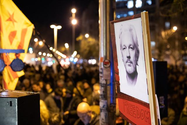 Acte en suport a Julian Assange. 24-F