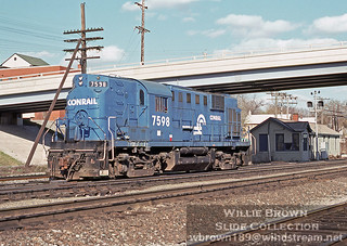 Alco RS11 7598 at the GS operator's office in East Syracuse, New York on April 30th 1978