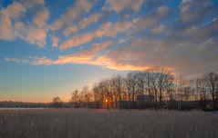 Sunset over lake Mälaren