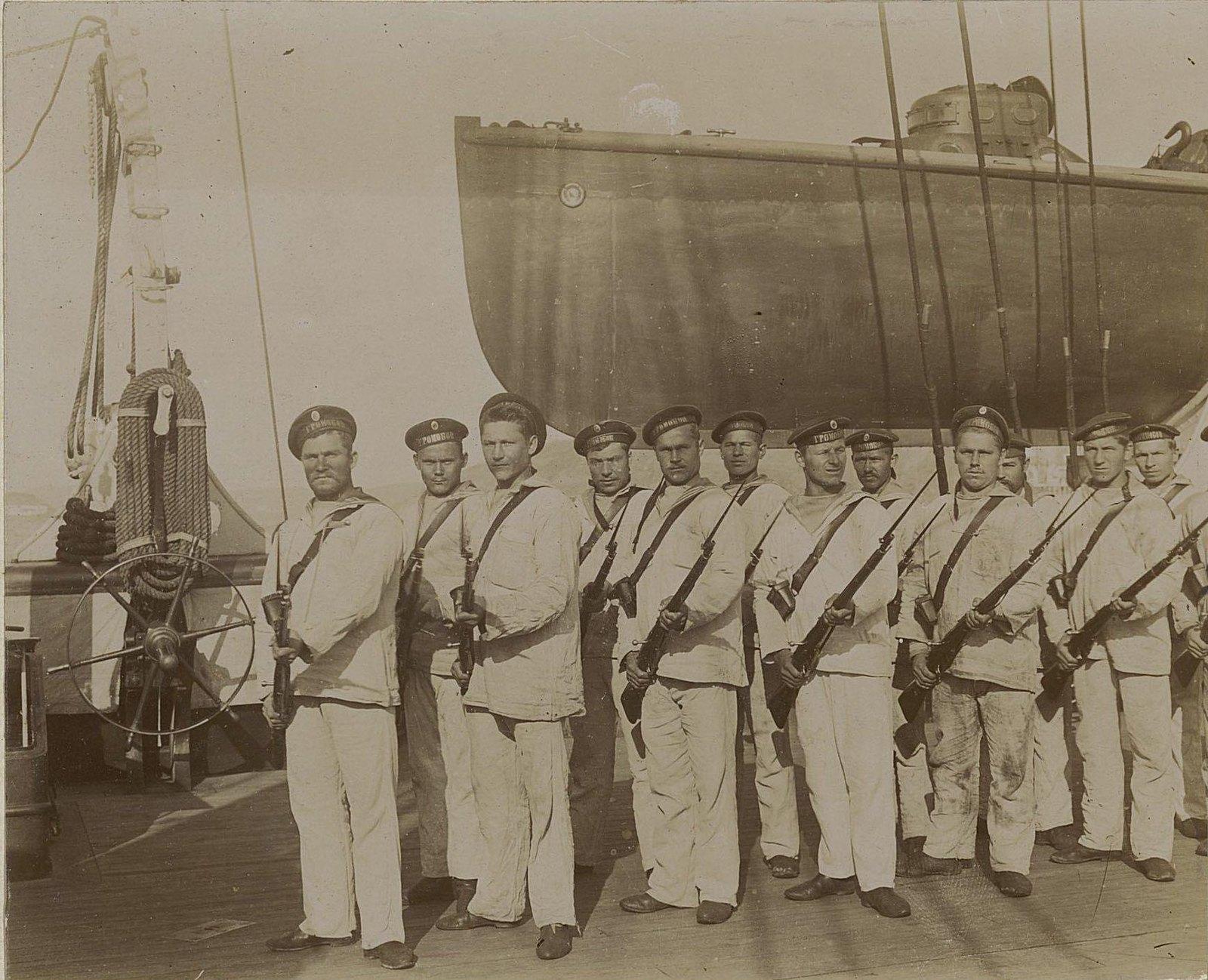 14. Вооружённые матросы крейсера «Громобой»