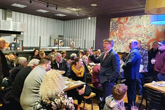 Rep. Ackert and Sen. Champagne hosted a Pizza and Politics event for constituents in Tolland.