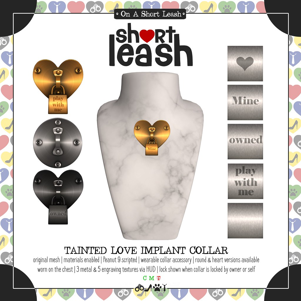 .:Short Leash:. Tainted Love Implant Collar