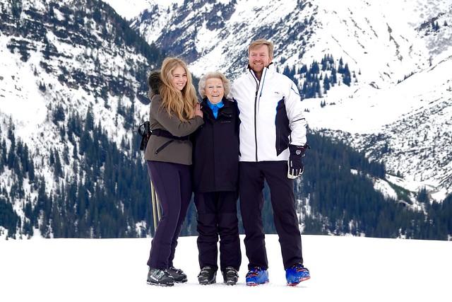 Fotomoment Nederlandse Koninklijke familie in Lech (2020)