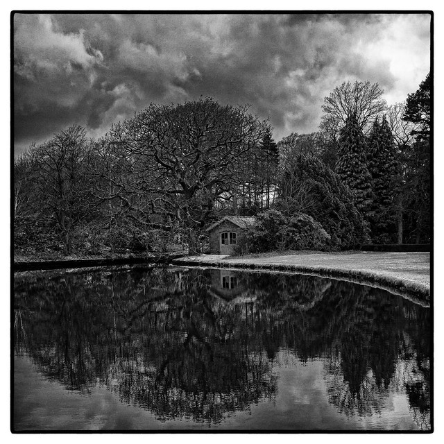 Lyme Hall - The Reflecting Pool after the Hail Storm